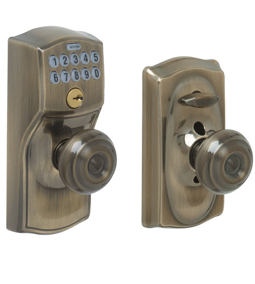 Camelot Keypad Entry With Georgian Knob Schlage