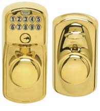 Plymouth Keypad Entry Flex-Lock Matching Knob, Schlage FE595PLYPLY