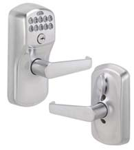 Plymouth Keypad Entry Flex-Lock With Elan Lever, Schlage FE595PLYELA