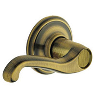Flair Door Lever Set, Schlage F-FLA