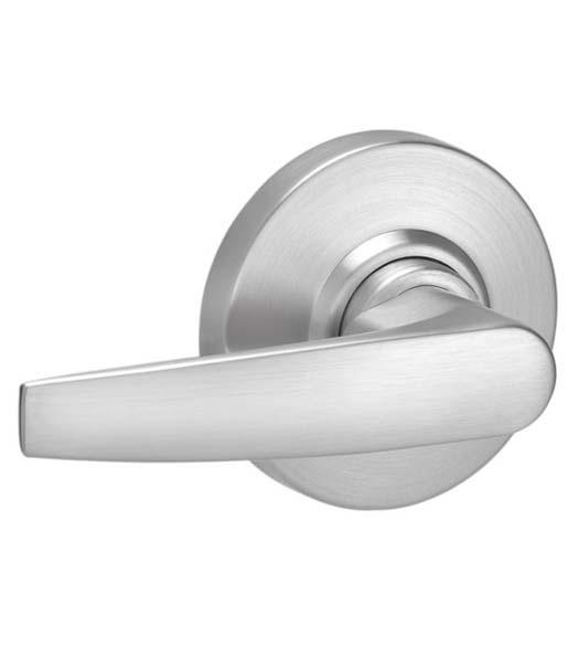 Schlage AL53PD JUP 605 C123 Keyway Series AL Grade 2 Cylindrical Lock Entrance Function Jupiter Design Bright Brass Finish C123 Keyway