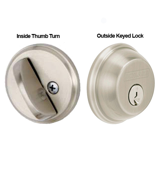 Single Cylinder Thick Door Deadbolt Schlage B60 61073