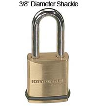 Schlage Kryptonite Padlock with 3/8 Diameter Shackle, 2 Inch Clearance