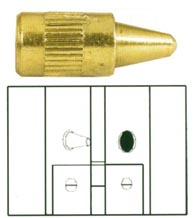 Security Door Hinge Pin, Deltana 44368