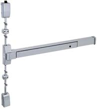 30 to 36-inch Stainless Steel Surface Vertical Rod Panic Device, Global TH1100EDSVTBARS