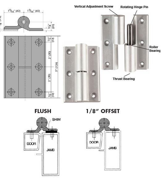 Commercial Aluminum Door Hinge  sc 1 st  Doorware.com & Commercial Aluminum Full Surface Hinge Pair TH1100-HK1 - Doorware.com