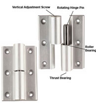 Commercial Aluminum Full Surface Hinge, Pair, TH1100-HK1