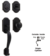 Castletown Single Cylinder Entry Handleset, Weslock 7625/7400