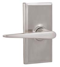 Contemporary Urbana Lever with Woodward Rose, Weslock 37002