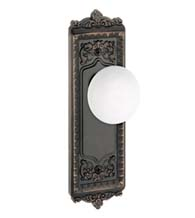 Windsor Plate With Hyde Park Porcelain Knob, Grandeur WINHYD