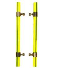 Yellow Acrylic 18 Inch Shower Door Pulls, Pair, FII-SD-CFRBACY-18