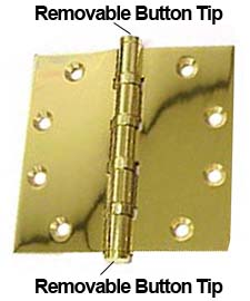 brass hinge removable button tips