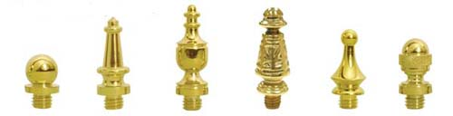 solid brass hinge finials