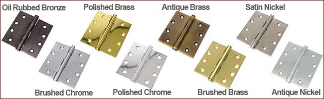 Door Hinge Finishes Available