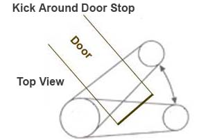 kick around door stops