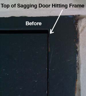 How To Fix A Sagging Door Doorware Com