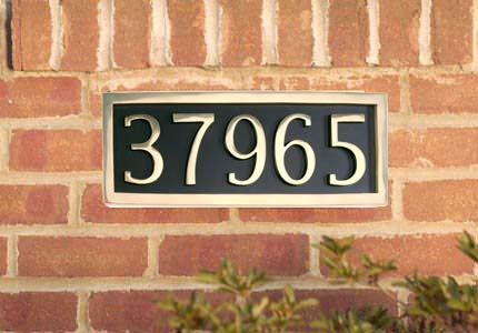 Brass Accents 5 House Number Address Plate Example