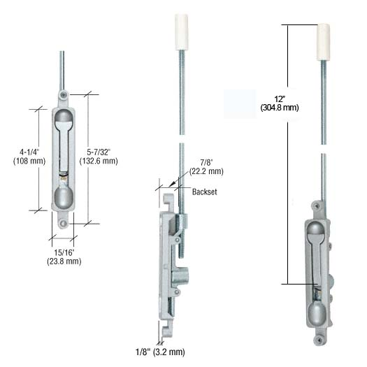 Standard Store Front Door Flush Bolt Global Th1100 Fb1