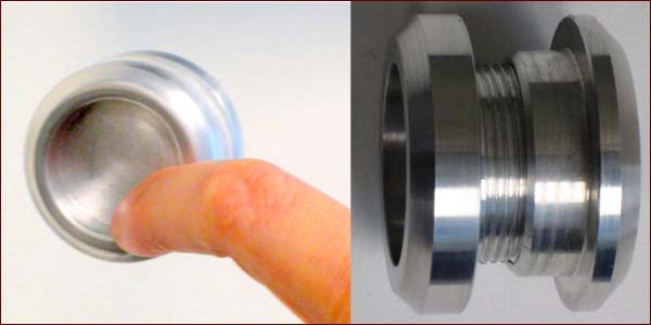 Round  Shower Door Finger Pull Details