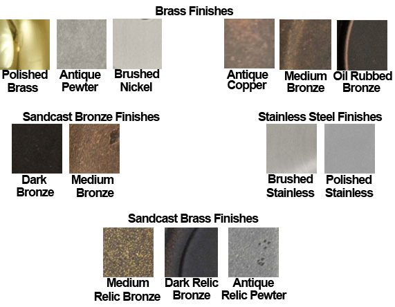 Fusion Door Hardware Finish Color Chart