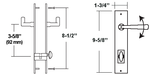 71000ECB Multipoint Trim Sets dimensions
