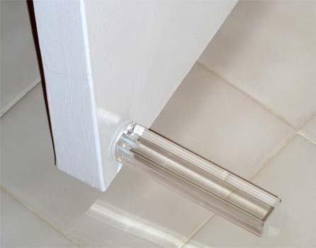 4 1 2 Inch Square Acrylic Door Stop First Impressions Ds
