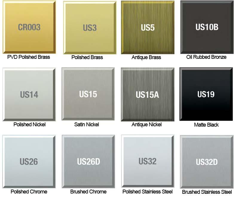 Dorallock Hardware Finish Colors Doorware Com