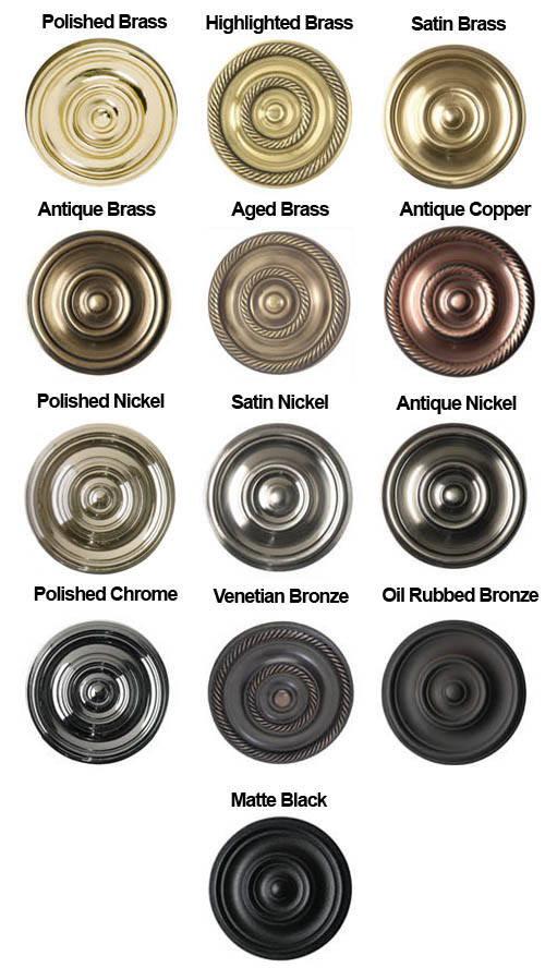 Brass Accents Finish Colors Doorware Com