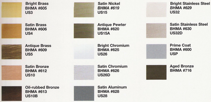Glynn Johnson Finish Colors Doorware Com