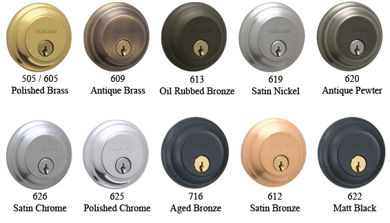 Schlage Hardware Finish Colors Doorware Com